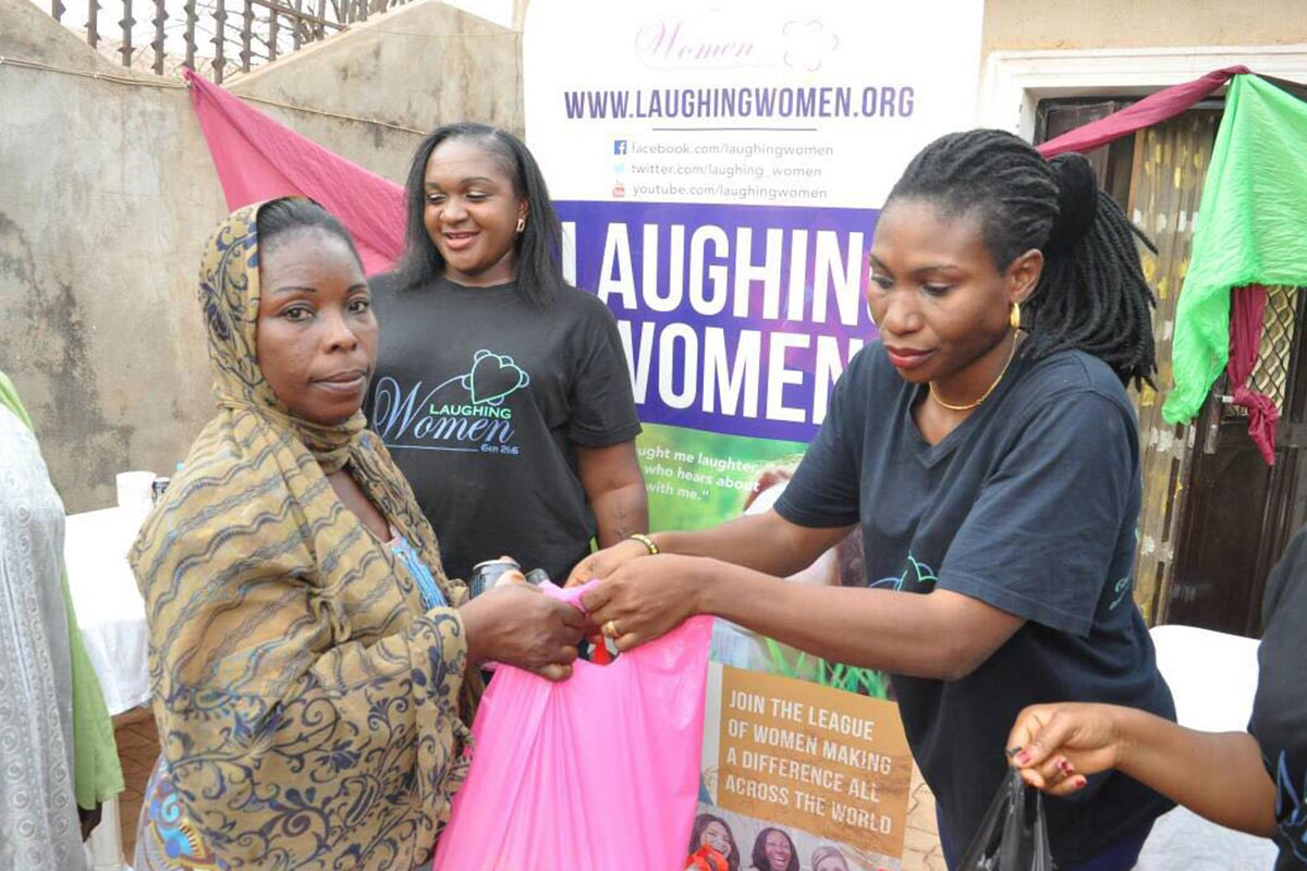 Laughing-Women-feeding